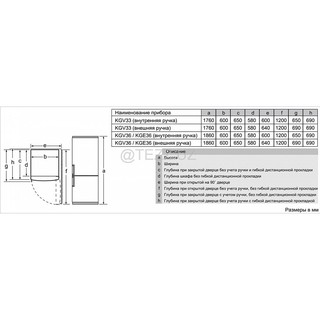 Холодильник Bosch KGV36VL32