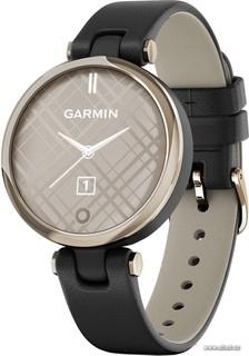 Умные часы Garmin Lily (кремово-золотистый, черный/кожаный ремешок) (63488)