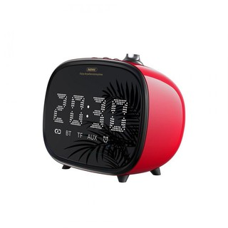 Беспроводная LED колонка с часами и будильником Remax RB-M52 Red
