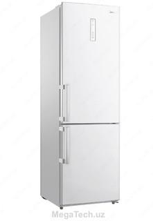 Холодильник Midea HD-400RWE2N (белый cтальной черный/cтекло)