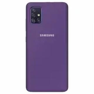 Чехол Silicone cover для Samsung Galaxy A71, сливовый
