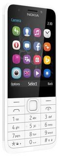 Телефон кнопочный Nokia 230 Dual Sim white