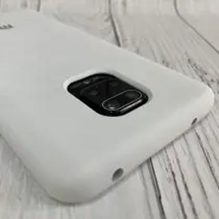 Чехол Silicone Cover для Xiaomi Redmi Note 9S / Note 9 Pro, белый