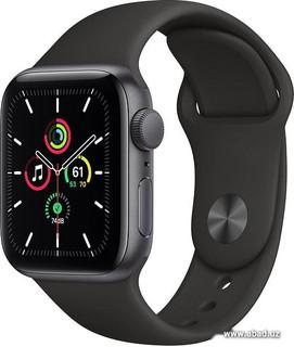Умные часы Apple Watch SE 40 мм (алюминий серый космос/черный спортивный) (61955)