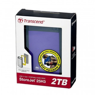 Внешний HDD Transcend StoreJet 25H3P 2 ТБ