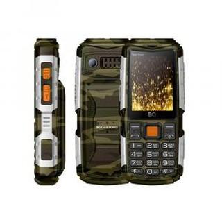 Кнопочный телефон BQ 2430 Tank Power Camouflage+Silver