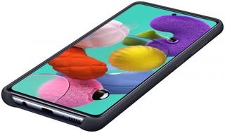 Чехол Silicone cover для Samsung Galaxy A51, черный