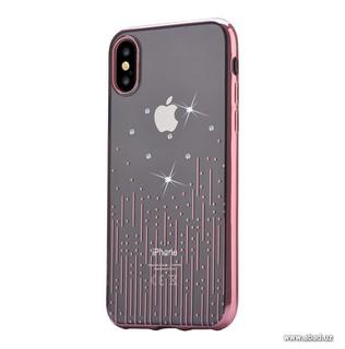 Чехол Devia Crystal Meteor Case со стразами Swarovski для Apple iPhone X/XS розовый (47105)