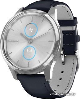 Гибридные умные часы Garmin Vivomove Luxe (серебристый/темно-синий) (50810)