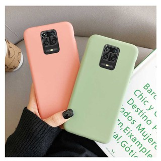 Силиконовый чехол для Xiaomi Redmi Note 9 pro / 9s (Pink/Green/BrightBlue/Black/Blue/BrightPink)