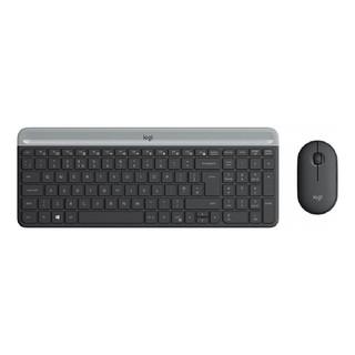Клавиатура и мышь Logitech MK470 GRAPHITE