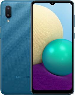 Смартфон Samsung Galaxy A02 SM-A022G/DS 2GB/32GB (синий) (66195)