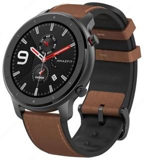 Умные часы Amazfit GTR 47мм aluminium case, leather strap