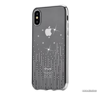 Чехол Devia Crystal Meteor Case со стразами Swarovski для Apple iPhone X/XS серебристый (47104)