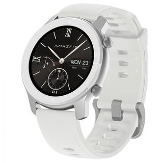 Smart Watch Amazfit GTR 42 mm aluminium case, leather strap