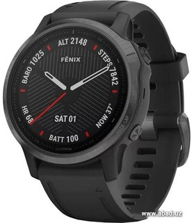 Умные часы Garmin Fenix 6s Sapphire (серый DLC/черный) (50771)