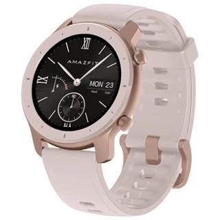 Smart Watch Amazfit GTR 42 mm aluminium case, silicone strap Cherry blosoom pink