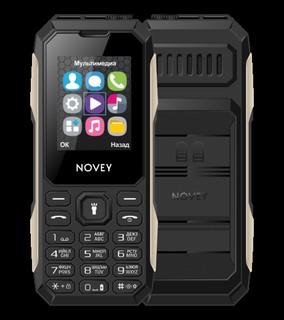 Телефон Novey T100 Tank Black-Silver
