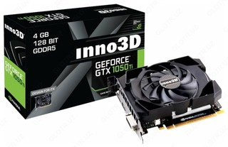Видеокарта inno3D GeForce GTX 1050 Ti 4096 MB 128 bit DDR5