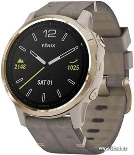 Умные часы Garmin Fenix 6s Sapphire (золотистый/серый) (50772)