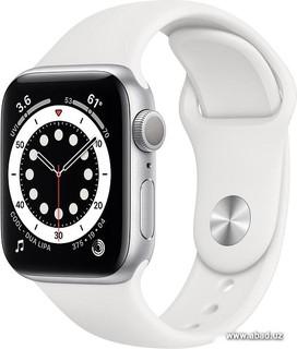 Умные часы Apple Watch Series 6 40 мм (алюминий серебристый/белый спортивный) (57154)