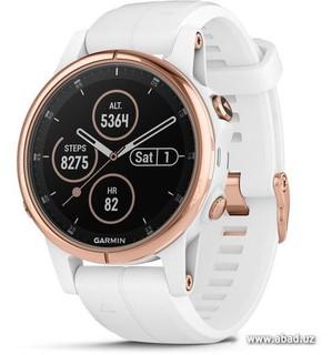 Умные часы Garmin Fenix 5S Plus Sapphire (розовое золото/белый) (36003)