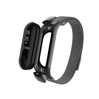 Сменный браслет Xiaomi Mi Band 4 / Mi Band 3 миланская петля Черный