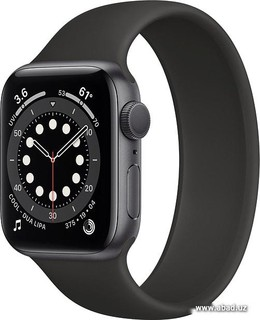 Умные часы Apple Watch Series 6 40 мм (алюминий серый космос/черный) (57155)