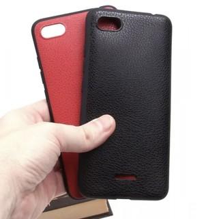 Чехол под кожу для Xiaomi Redmi 6A, черный